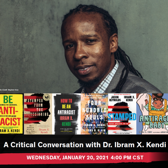 Flyer with Dr. Ibram X. Kendi