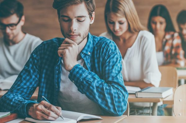 image of student writing