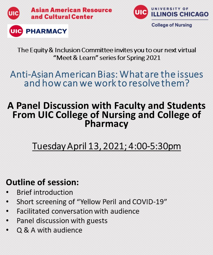 Uic Spring 2022 Calendar.Anti Asian American Bias What Are The Issues And How Can We Work To Resolve Them Center For Student Involvement University Of Illinois At Chicago